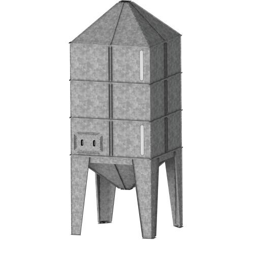 Бункер с квадратно сечение ELICA